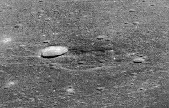 Lunar dome - Image: Lunar dome near Messier crater 5038 med