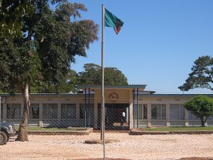 Flag of Zambia - The flag flying outside the Lundazi Council building