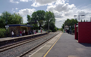 Lydney railway station - Image: Lydney railway station MMB 03