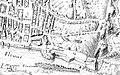 Lyon, Colonia copia Claudia Augusta Lugdunum, Vetus inscriptio ad confluentes Isarae et Rhodani, Simon Maupin et Abraham Bosse, 1635, détail sur le quartier des Terreaux et les pentes de la Croix-Rousse.jpg