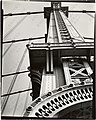 MANHATTAN BRIDGE LOOKING UP by Berenice Abbott in 1936.jpg