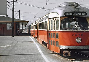 Riverside (MBTA station) - Trolleys at Riverside Terminal in September 1965