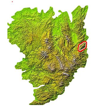 Mont Pilat - Location of the Pilat in the Massif Central
