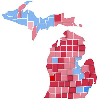 United States presidential election in Michigan, 1988 - Image: MN1988