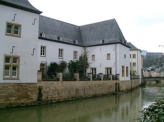 National Museum of Natural History (Luxembourg) - Backside of the museum along the river Alzette.