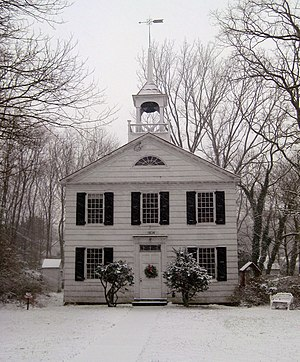 Miller Place, New York - The historic Academy Schoolhouse of Miller Place