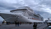 MSC Preziosa in a cold winter day at Lisbon, Portugal.jpg