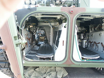 BMP-1 troop compartment (Polish-modified)