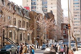 Mackay Street - Mackay Street, between De Maisonneuve Boulevard and Sherbrooke Street
