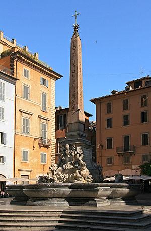 Fontana del Pantheon - Fontana del Pantheon at Piazza della Rotonda features a six-metre obelisk
