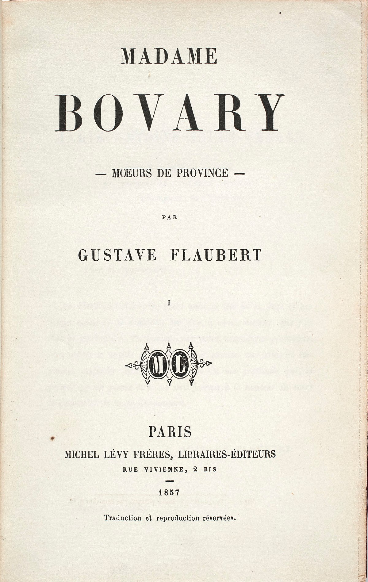 madame bovary rencontre entre charles et emma)