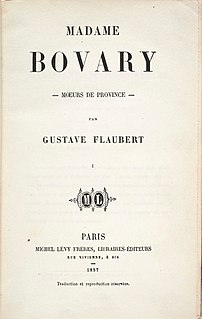 <i>Madame Bovary</i> 1856 novel by Flaubert
