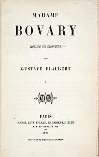 <i>Madame Bovary</i> 1857 novel by Gustave Flaubert