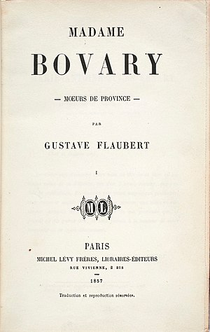 1857 in literature - Image: Madame Bovary 1857 (hi res)