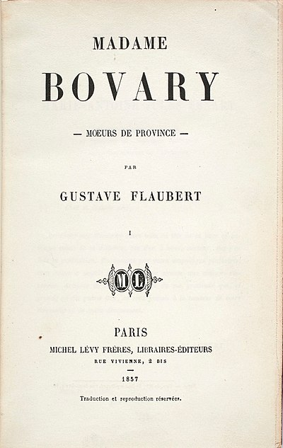 Picture of a book: Madame Bovary