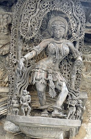 Chennakeshava Temple, Belur - Artwork at Chennakeshava temple.