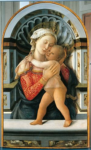Regina Coeli - Madonna by Filippo Lippi, an example of Marian art
