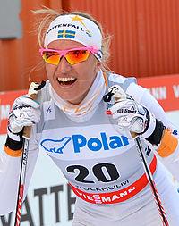 Magdalena Pajala på Royal Palace Sprint i Stockholm den 20 marts 2013.