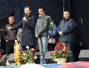 Oleh Lyashko - Image: Maidan Kiev 2014 04 13 12 12