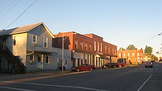 Shiloh, Richland County, Ohio - Main Street downtown