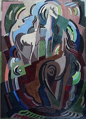 Mainie Jellett - Achill Horses by Mainie Jellett, 1938