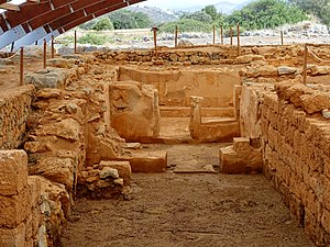 Malia, Crete - Excavation site of the pillar crypt in the Palace of Malia