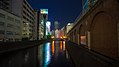 Manseibashi Viaduct & JR Kanda Manseibashi Building at night (2014-09-28 18.15.56 by superidoljp).jpg