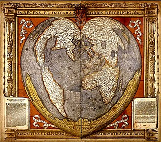 Oronce Finé - Heart-shaped map