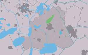 Snikzwaag - Image: Map NL Skarsterlân Sniksweach
