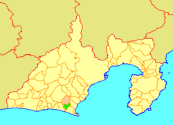 Location of Ogasa in Shizuoka Prefecture