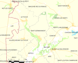 Mapa obce Saint-Germainmont