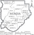 Map of Acadia Parish Louisiana With Municipal and District Labels.PNG
