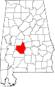 Map of Alabama highlighting Dallas County.svg