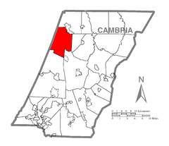 Map of Barr Township, Cambria County, Pennsylvania Highlighted.png
