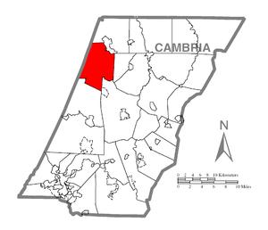 Barr Township, Cambria County, Pennsylvania - Image: Map of Barr Township, Cambria County, Pennsylvania Highlighted