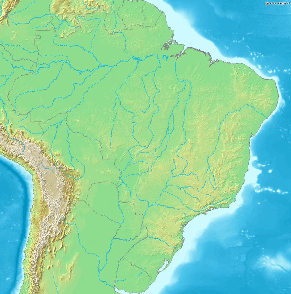 Map of Brazil Demis
