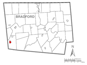 Map of Canton, Bradford County, Pennsylvania Highlighted.png