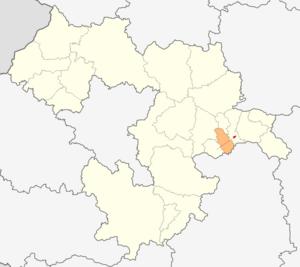 Chavdar Municipality - Image: Map of Chavdar municipality (Sofia Province)