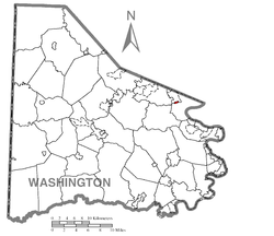 Location of Finleyville in Washington County