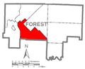 Map of Green Township, Forest County, Pennsylvania Highlighted.png