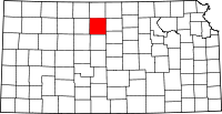 Map of Kansas highlighting Osborne County