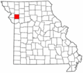 Map of Missouri highlighting Clinton County.png