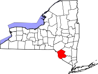 Locatie van Sullivan County in New York