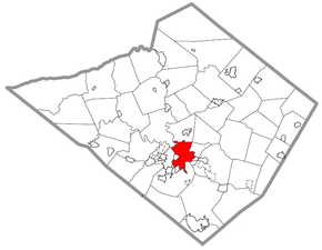 Map of Reading, Berks County, Pennsylvania Highlighted.png