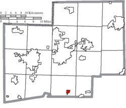 Location of East Sparta in Stark County