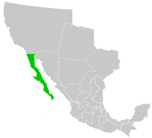 Map of the former Mexican territory of Baja Ca...