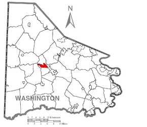 Map of Wolfdale, Washington County, Pennsylvania Highlighted.png