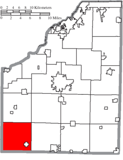 Location of Jackson Township in Wood County