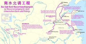 South–North Water Transfer Project - Routes of the South–North Water Transfer Project
