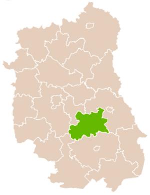 Krasnystaw County - Image: Mapa Pow Krasnostawski